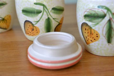 funky kitchen canisters vintage ceramic kitchen canisters italy hpt2 funky flamingo