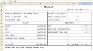 payslip philippines template payslip template format in excel and word microsoft