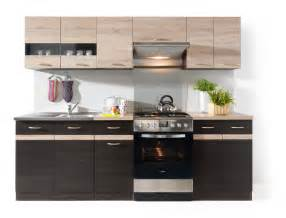 Kitchen Furniture by Junona Line 240 Kitchen Set Wenge Sonoma Black