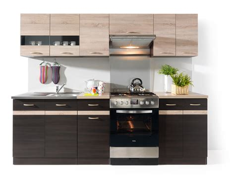kitchen furnitures junona line 240 kitchen set wenge sonoma polish black