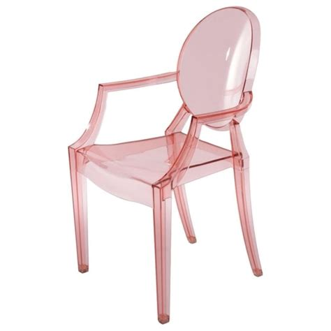 buy transparent pink ghost style chair transparent pink