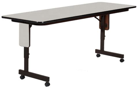 adjustable table with wheels adjustable height 24 wide seminar table w wheels