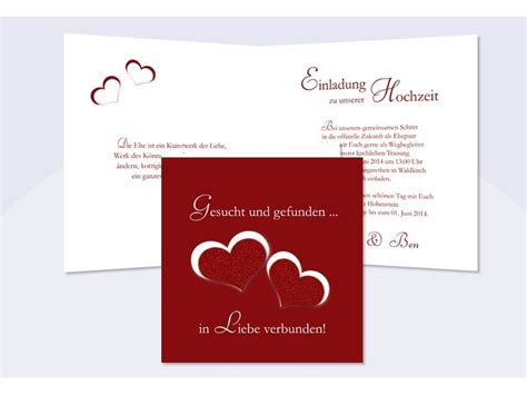 Einladungskarten Herz by Hochzeitskarte Hochzeitseinladung Einladung Hochzeit