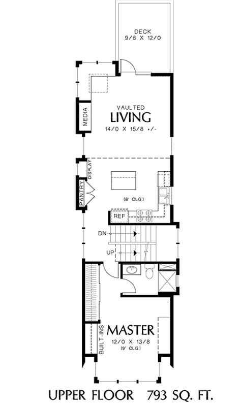 Narrow Home Plans by Narrow House Plans Studio Design Gallery Best