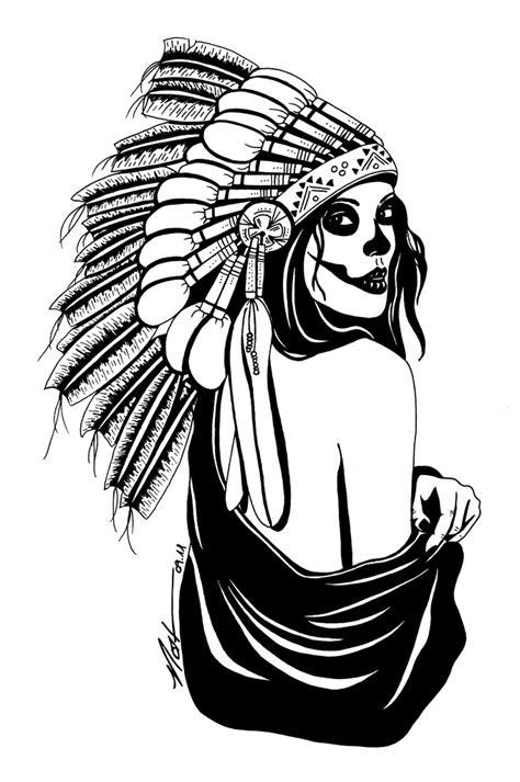 doodle draw fb indian skull nat hanss flickr
