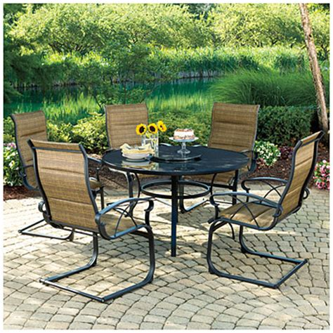Big Lots Patio Table View Wilson Fisher 174 Scottsdale 6 Rocker Dining Set Deals At Big Lots