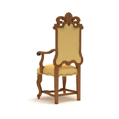 Carved Armchair by Carved Armchair 3 3d Model Max C4d Dae Lxo Lxl Cgtrader
