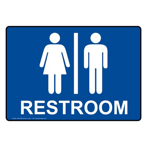 Bathroom Signs by Restroom Signs Multi Mount