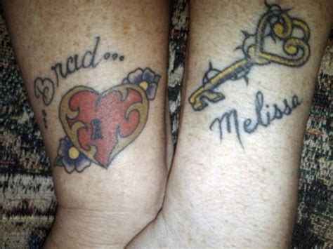 heart and key couple tattoos 25 tattoos for couples