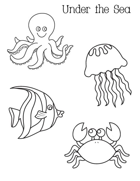 coloring page of under the sea coloring pages of under the sea coloring pages for free