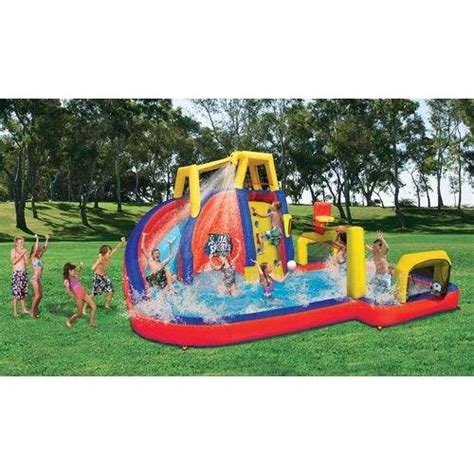 inflatable backyard water park summer cool inflatable water slide bounce house park kids