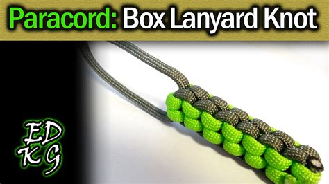Square Knot Sinnet - simple paracord box lanyard knot square sinnet fob