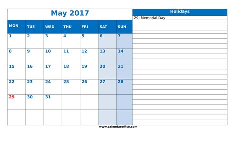 may 2017 calendar printable templates calendar office