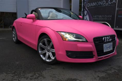 pink convertible cars pink audi tt convertible girly cars for female drivers