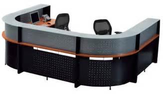 Two Person Reception Desk U Shaped 2 Person Glass Top Reception Desk