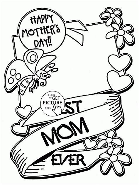 best mom ever mother s day coloring page for kids