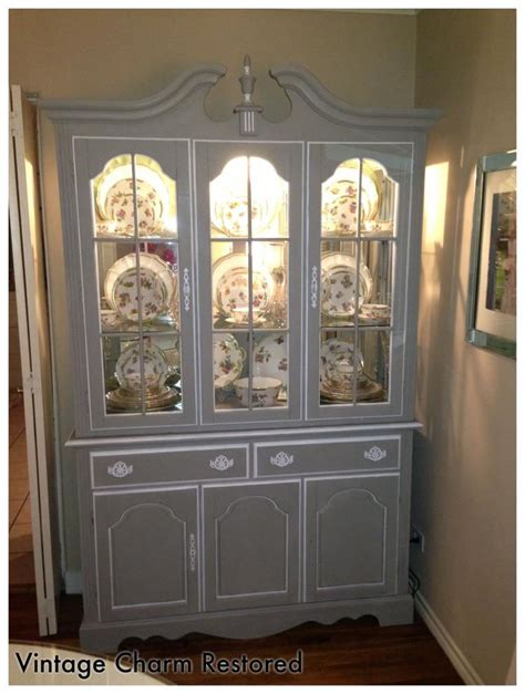 French Provincial Dining Room by Painted China Hutch