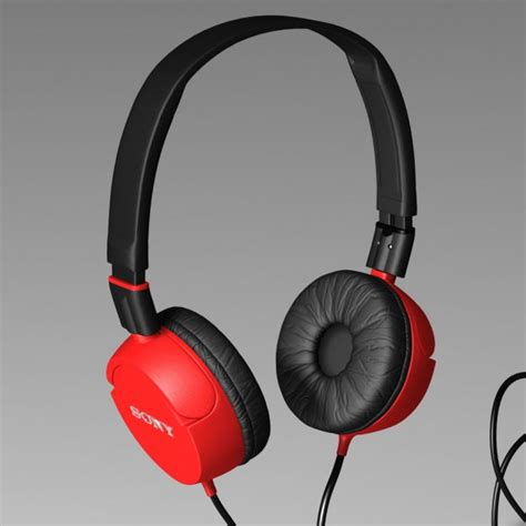 Headphone Sony Mdr Zx100 headphone sony mdr zx100 zx 3d models cgtrader