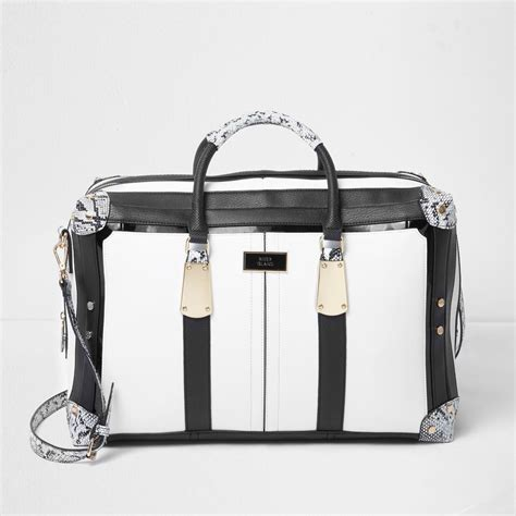 Burch Garden Snake Weekender Bag by Lyst River Island Black And White Snake Print Weekend