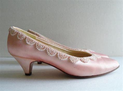 shoe vintage pink bridal shoe and purse set 2394970