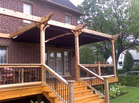 Back Porch Awning by Side By Side Retractable Awnings 2 Back Porch Ideas