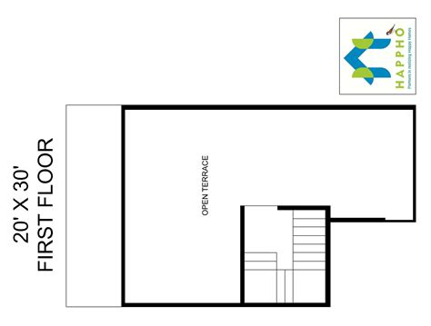 1 bhk floor plan for 20 x 30 plot 600 square feet 67 1 bhk floor plan for 20 x 30 plot 600 square feet 67