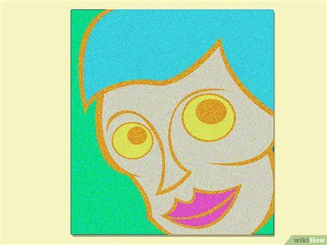 Cat Akrilik Glitter cara membuat lukisan berkilau dengan glitter wikihow
