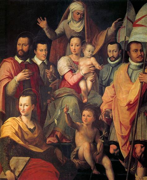 the medici portrait of the the medici family done in 1575 by florentine mannesrest left to right grand