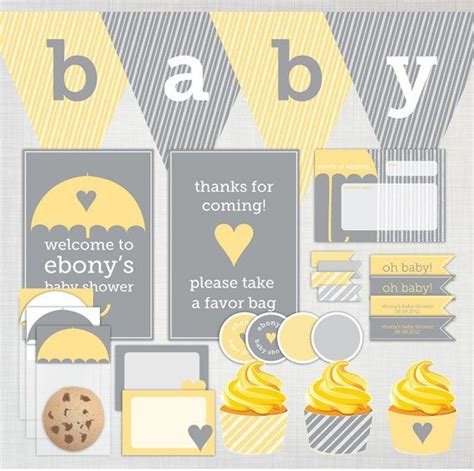 Baby Shower Yellow And Grey by 1000 Images About Yellow And Grey Baby Shower Idea On