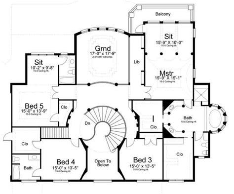2nd floor plan design featured house plan pbh 8079 professional builder