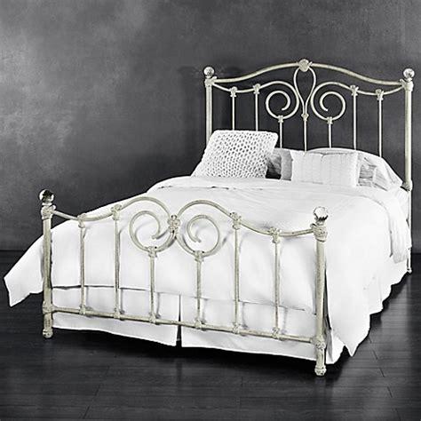 iron queen bed buy eldridge iron queen bed in distressed white from bed