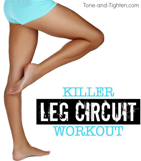 killer at home leg circuit workout tone and tighten