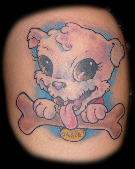 dog bone tattoo 37 puppy paw tattoos and ideas