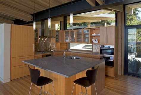 Kitchen Island Breakfast Table Whidbey Island Cabin With Exceptional Views
