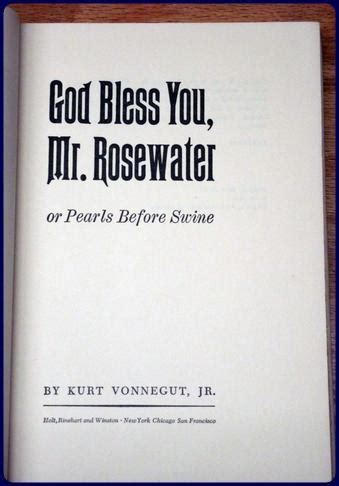 libro god bless you mr god bless you mr rosewater or pearls before swine by vonnegut kurt jr new york holt