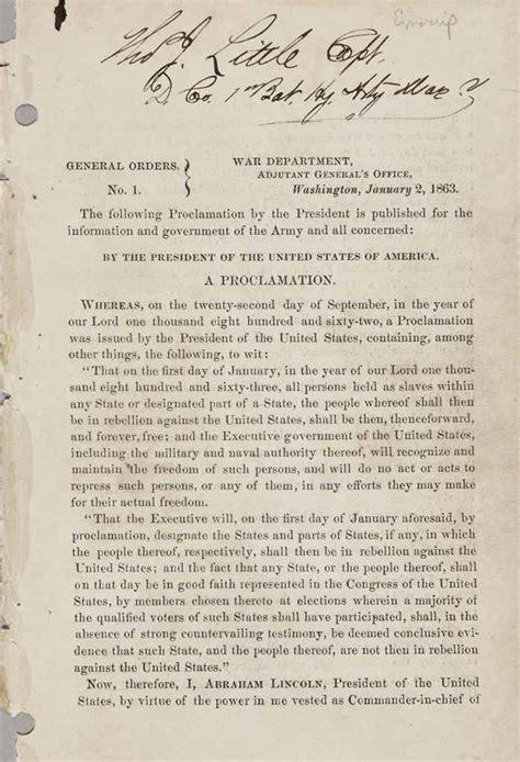 emancipation proclamation lincoln abraham lincoln emancipation proclamation images