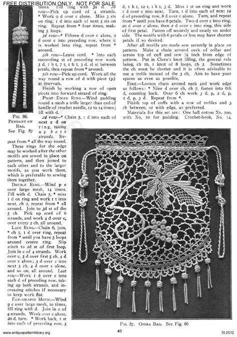 antique pattern library priscilla apl 6 ja025 priscilla irish crochet book no 2 page 47