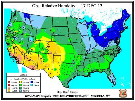 america humidity map us weather map humidity maps of usa