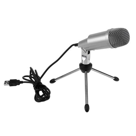 Mic Microphone Krezt K 818 Electret Condenser k 2 professional condenser microphone for computer pc laptop recording singing usb microphone