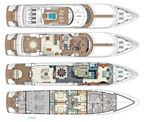 mega yacht floor plans luxury yacht deck plans pictures to pin on pinterest