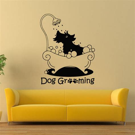 puppy wall decals grooming wall decal pet grooming from wisdomdecals on etsy