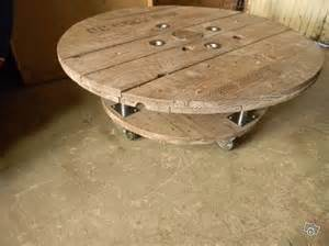 table basse touret bois 80 et 60 de diametre d 233 coration