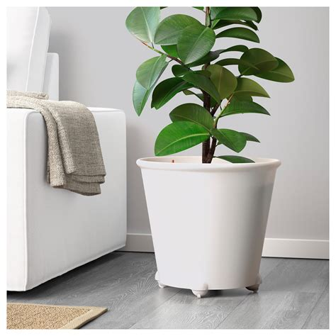 self watering plant pots ikea ps fej 214 self watering plant pot white 32 cm ikea