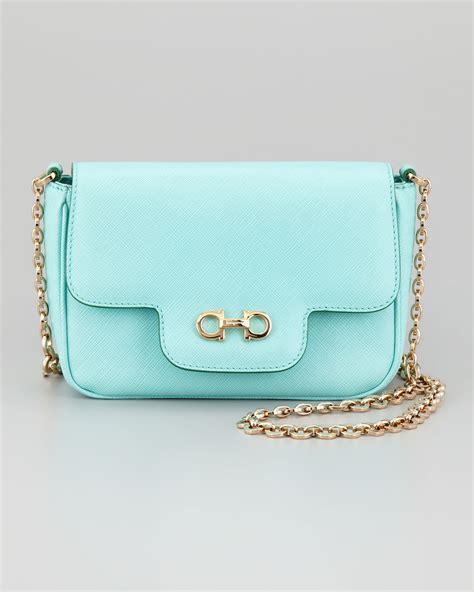 Shoulder Bag Turquoise ferragamo fancy chain shoulder bag in green turquoise lyst