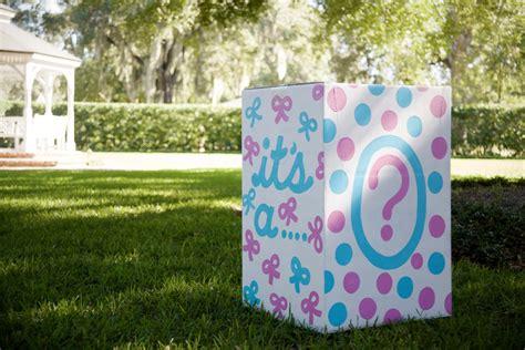 balloons in a box gender reveal gender reveal on the lawn project nursery