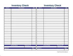 free small simple physical inventory check sheet tall