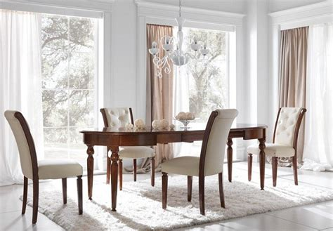Classical Dining Room by Wooden Dining Table Set Leather Chairs Classic