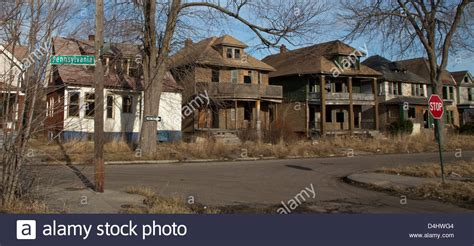 buying a house in detroit michigan detroit michigan abandoned buildings and vacant lots characterize stock photo