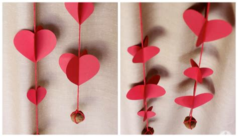 Handcrafted Hearts - hearts paper curtain home designing