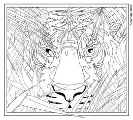 Galerry animal hard coloring pages